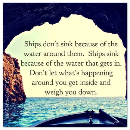 ships dont sink